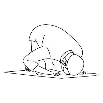 Uomo musulmano che prega