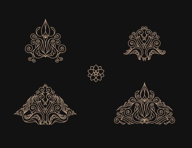 Elementi ed emblemi musulmani del profilo