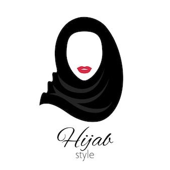 Donna musulmana nel simbolo hijab. bella signora araba. ragazza in abito tradizionale.