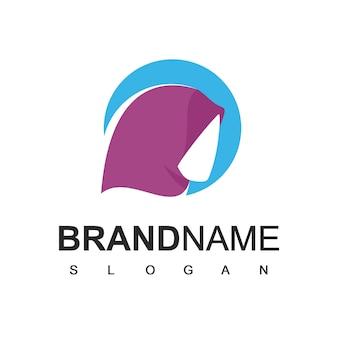 Modello di logo del negozio di moda muslimah
