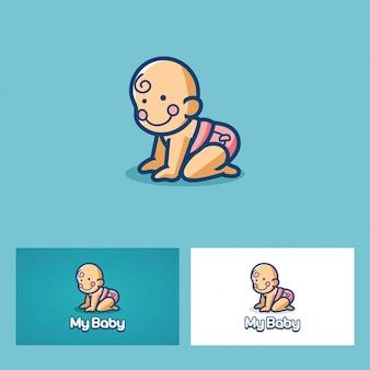 My baby logo Vettore Premium