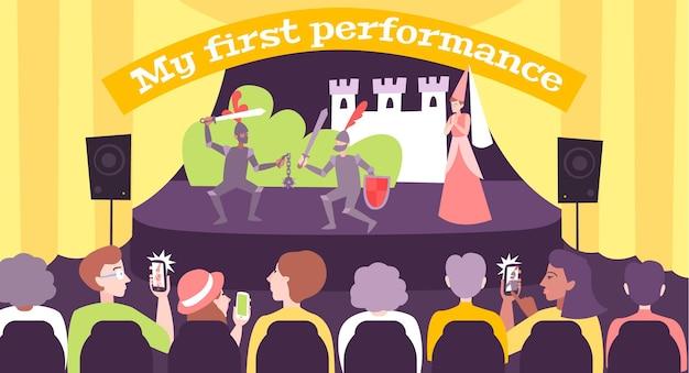 La mia prima illustrazione della performance