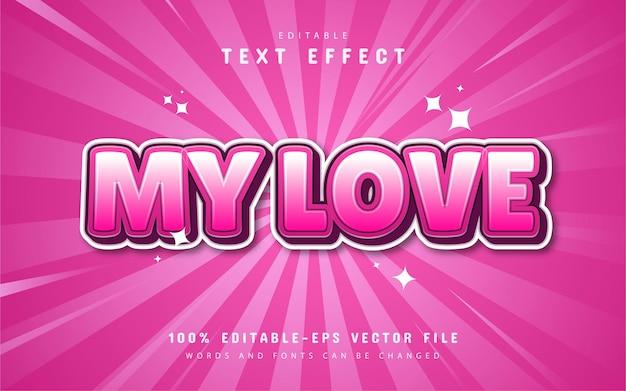 Il mio effetto di testo d'amore con sfumatura rosa