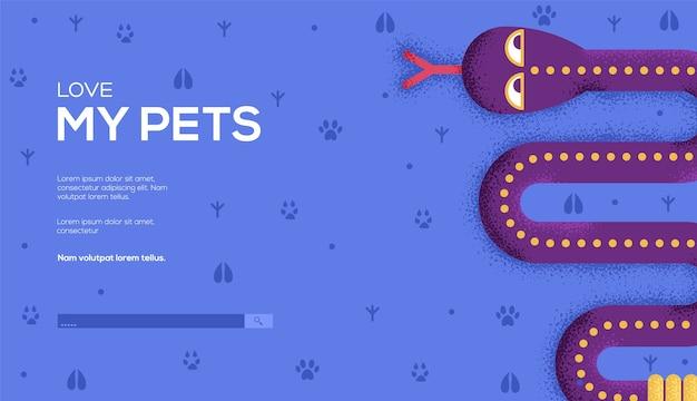 Pagina di destinazione dei miei animali domestici