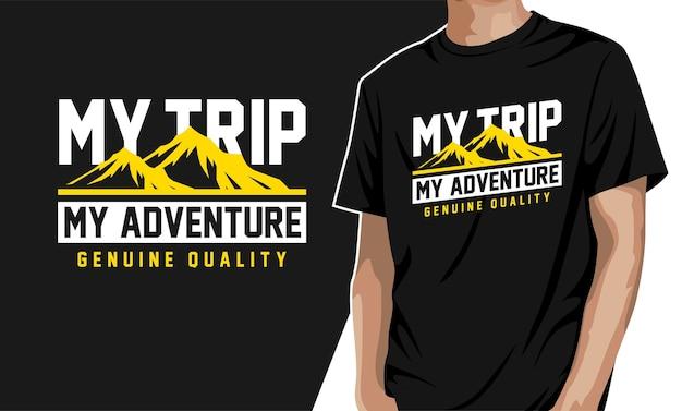 T-shirt grafica il mio viaggio la mia avventura
