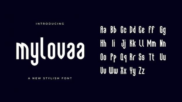 Carattere alfabeto mylovaa