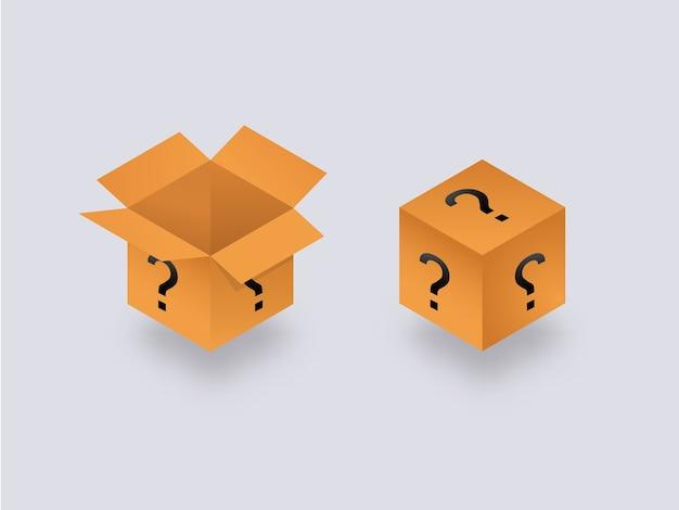 Misteriosa scatola segreta aperta e chiusa.