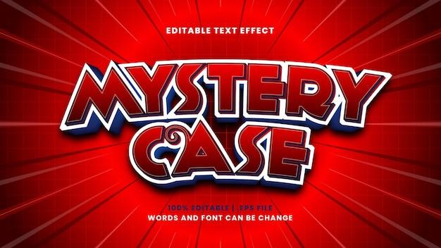 Effetto di testo modificabile caso misterioso in stile 3d moderno