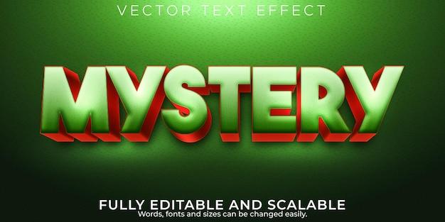 Effetto testo misterioso, stile di testo modificabile e divertente