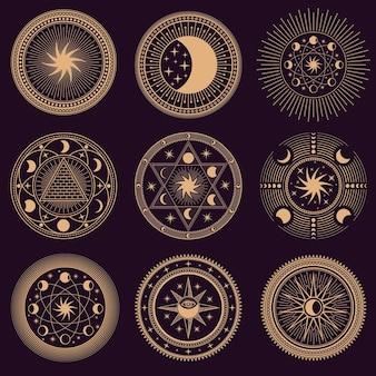 Simboli del cerchio mistico.