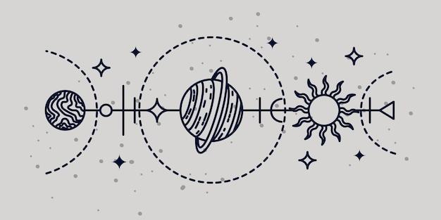 Illustrazione astrologica mistica illustrazione