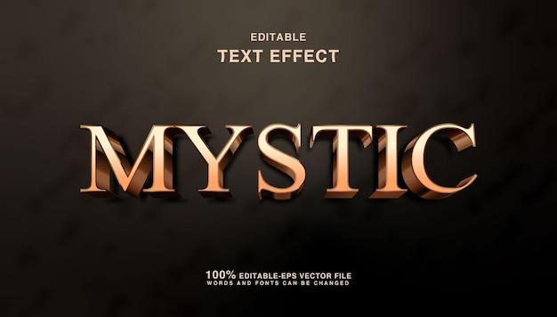 Mistico effetto di testo fantasy dorato