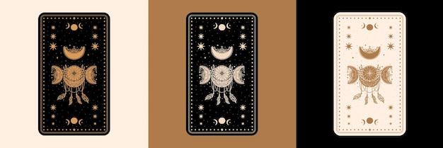 Set di carte da scrivania dei tarocchi mistici