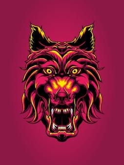 Illustrazione mitica lupo