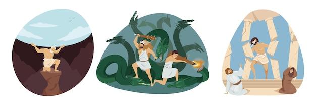 La serie mitologica religiosa del titano atlante tiene celeste