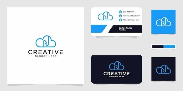 Il design grafico del logo n cloud per altri usi è perfetto