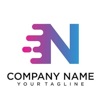 Logo della lettera n veloce