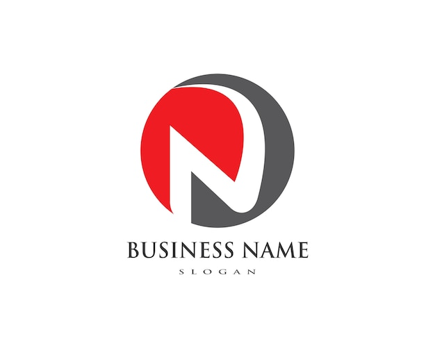 N lettera logo aziendale