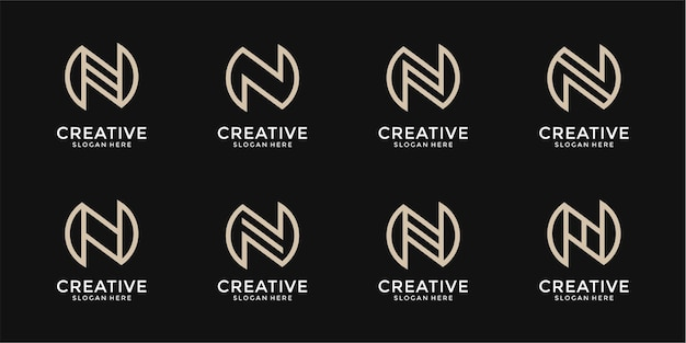 N lettera logo collezione monogramma