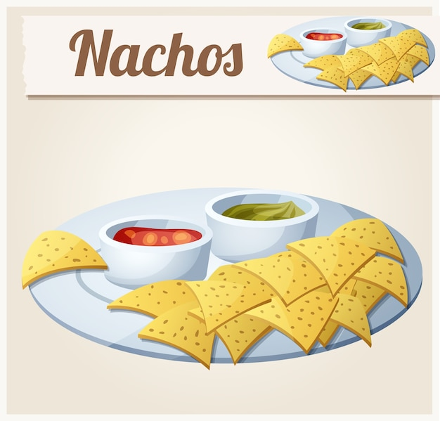Tortilla chips di nachos.