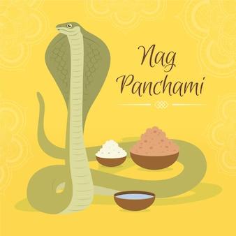 Illustrazione di nag panchami