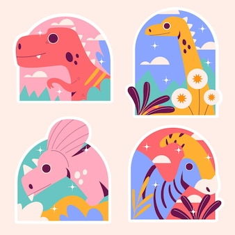 Adesivi dinosauri ingenui