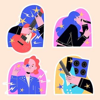 Adesivi rock star ingenui e musica dal vivo