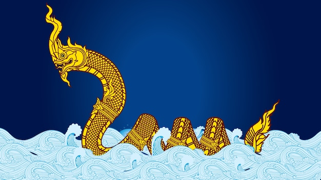 Grande serpente vintage naka thai