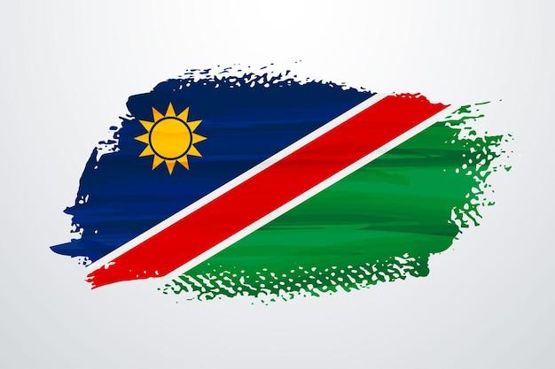 Bandiera della namibia con vernice a pennello