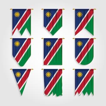 Bandiera della namibia in diverse forme, bandiera della namibia in varie forme