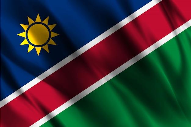 Modello di seta di ondeggiamento della bandiera della namibia