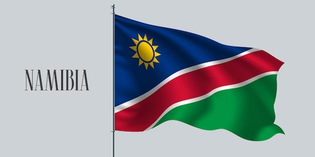 Namibia sventolando bandiera