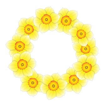 Corona di fiori di narciso