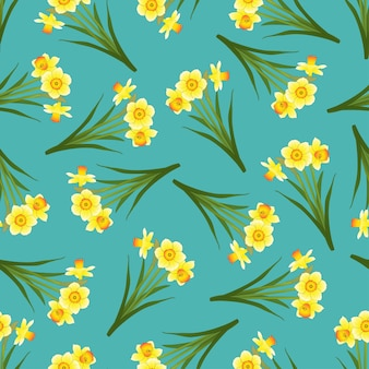 Narciso senza cuciture su blue teal background.