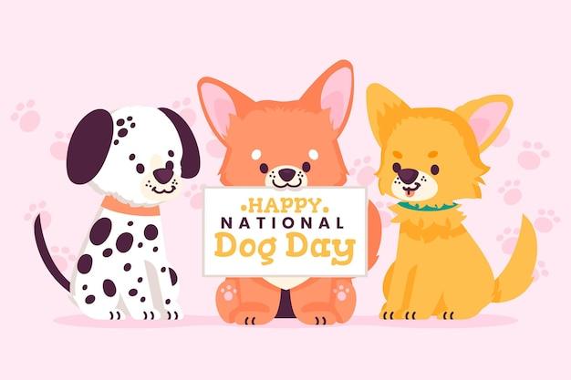Illustrazione della giornata nazionale del cane