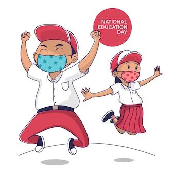Giornata nazionale dell'istruzione indonesia student jump