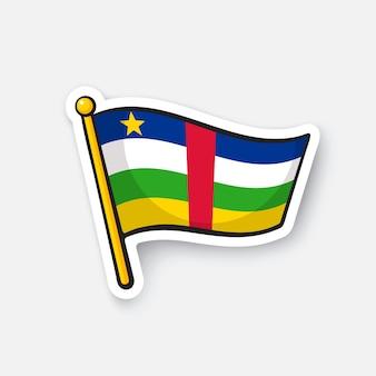 Bandiera nazionale dei paesi della repubblica centrafricana in africa vector illustration