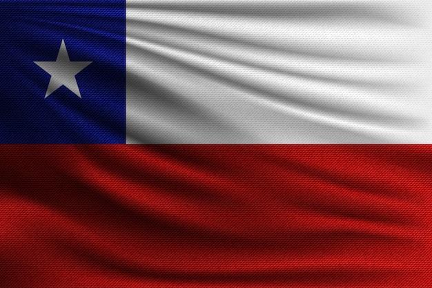 La bandiera nazionale del cile.
