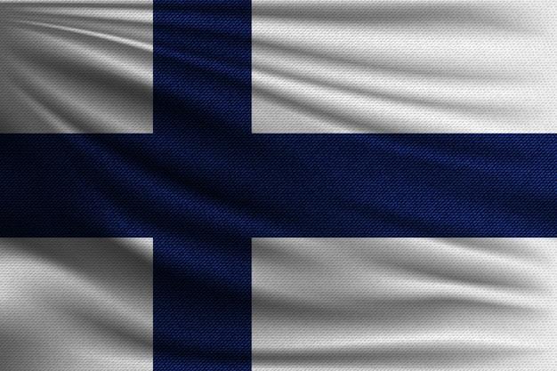 La bandiera nazionale della finlandia. Vettore Premium