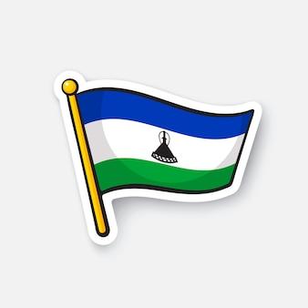 Bandiera nazionale dei paesi del lesotho in africa simbolo di posizione per i viaggiatori illustrazione vettoriale