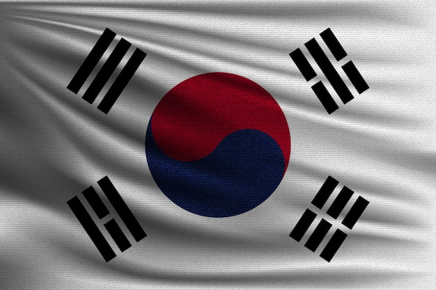La bandiera nazionale della corea del sud.