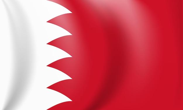 Bandiera nazionale rossa e bianca del regno del bahrain sventolando lo stendardo