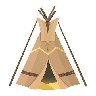Tipi di sioux nativi americani. tenda da giardino o per viaggiare.