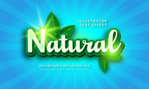 Effetto di stile di testo 3d naturale.