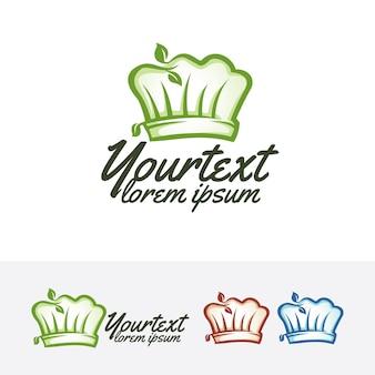 Modello di logo vettoriale naturale vettore chef