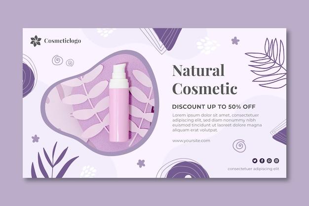 Modello di banner cosmetici naturali