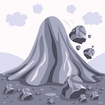 Disastro naturale catastrofe valanga