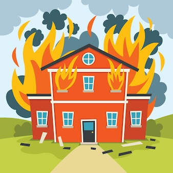 Disastro naturale catastrofe incendio