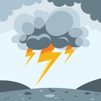 Disastro naturale catastrofe tempesta