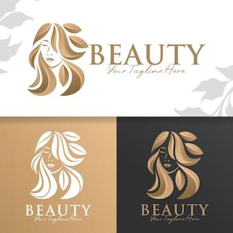Modello logo donna oro naturale